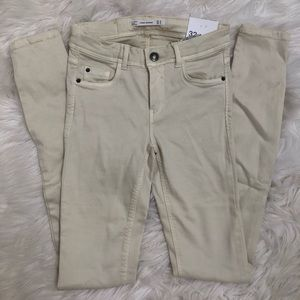 Zara Trafaluc Beige Skinny Jeans Sz 00 New